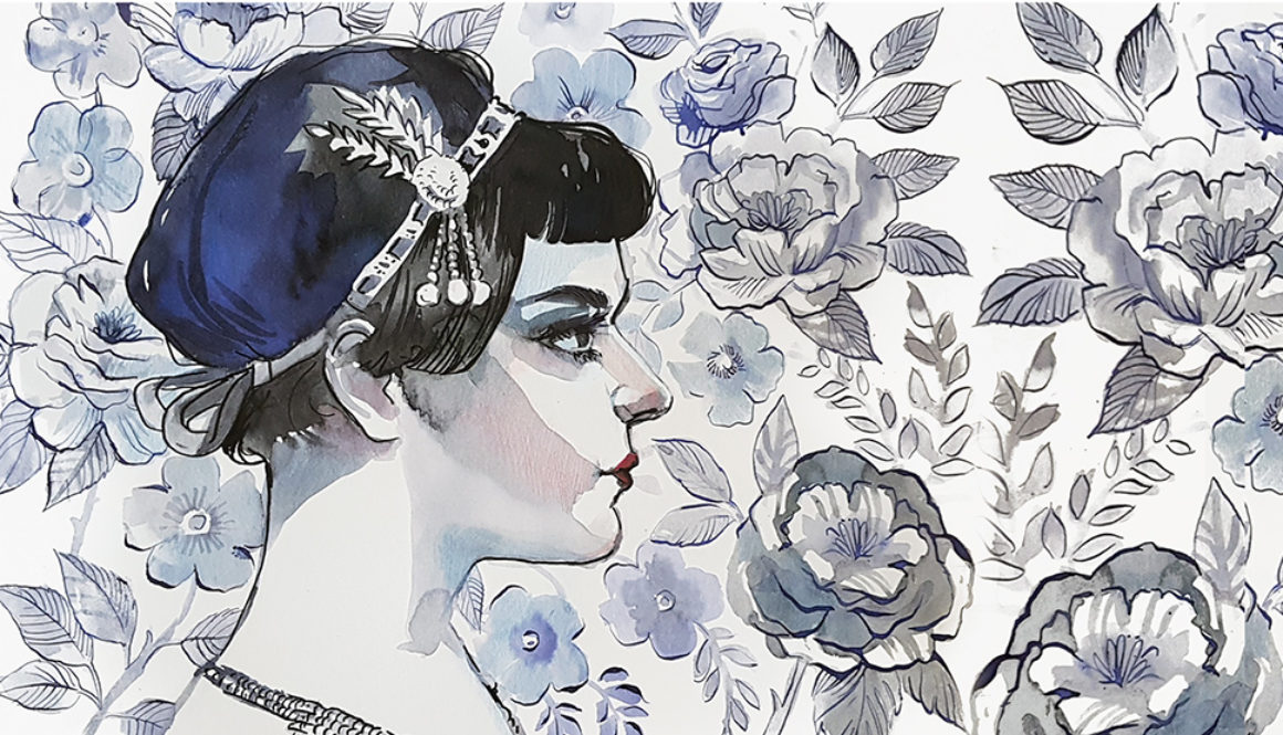 Inktober illustration flapper girl