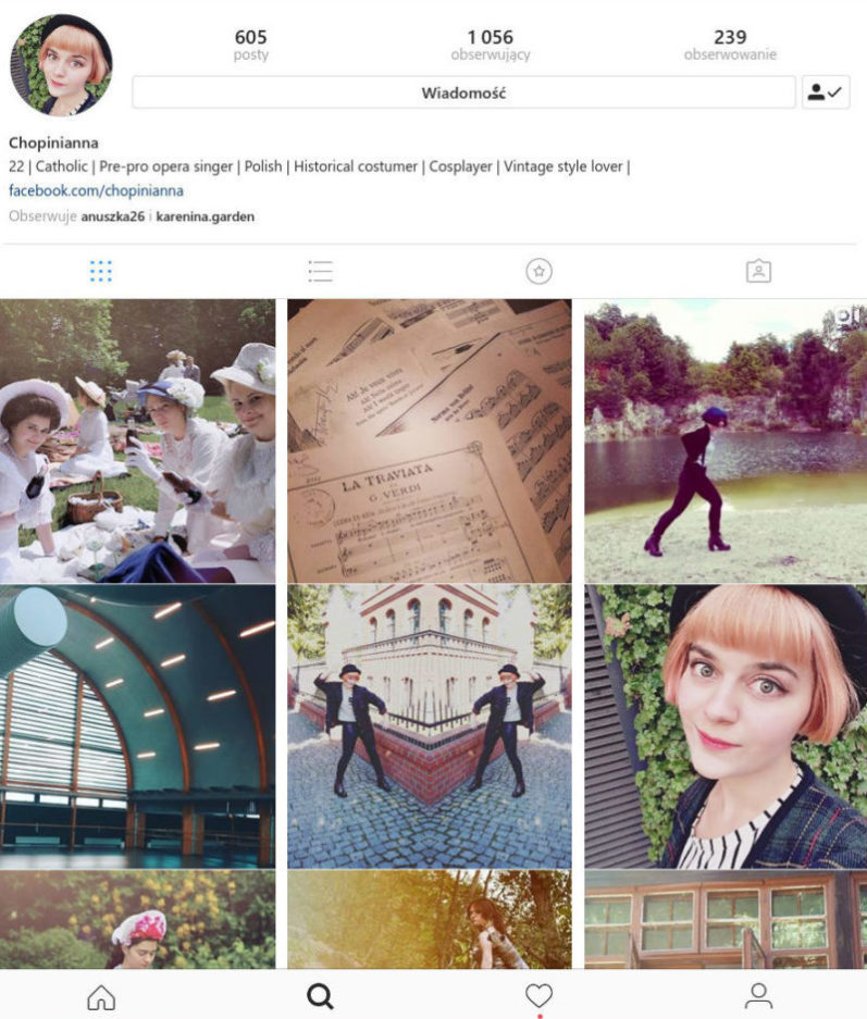 instagram profile of Makenta