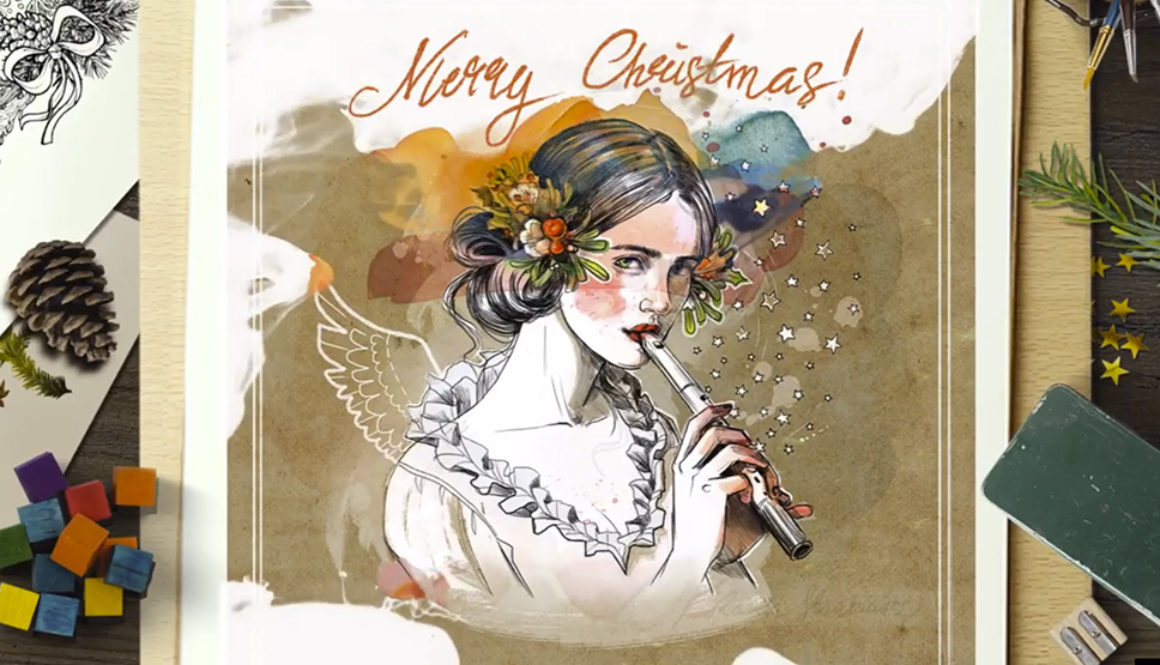 Christmas wishes illustrations