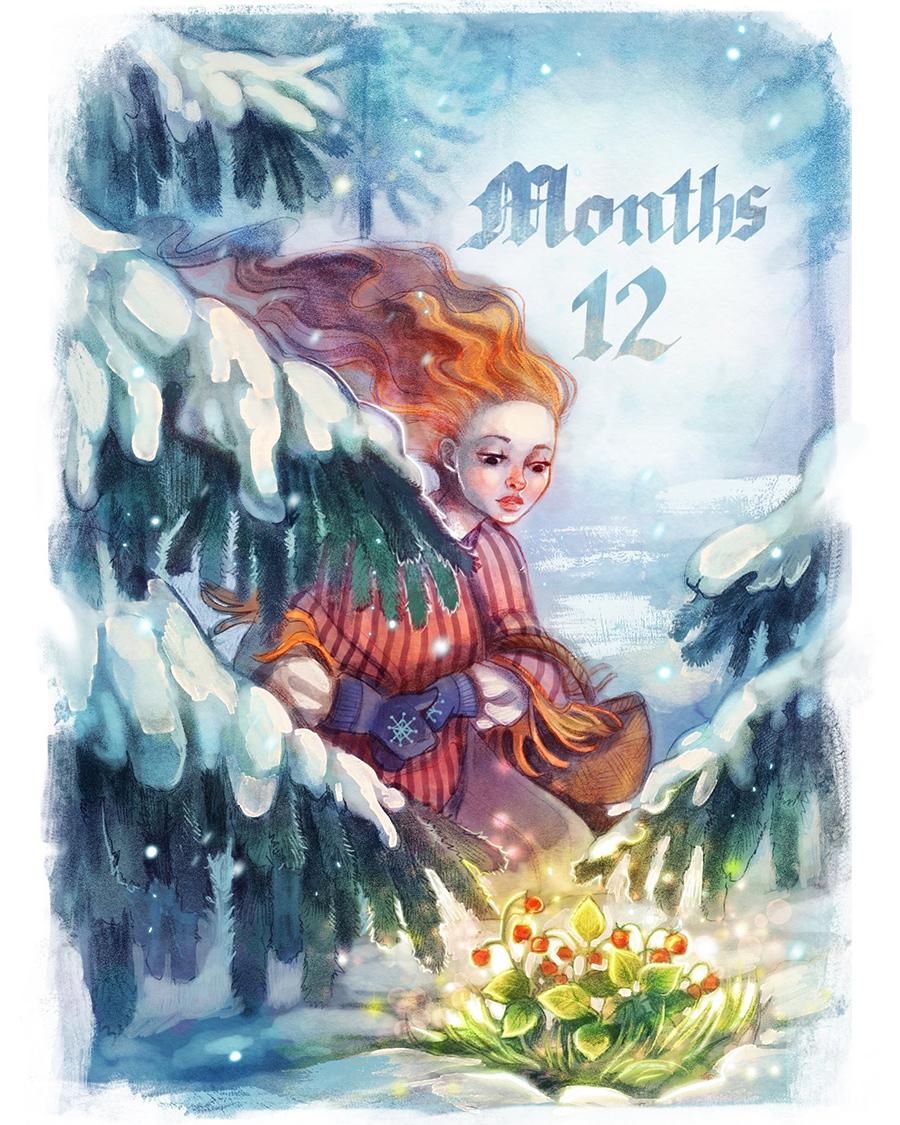 12 Months illustration by Kamila Stankiewicz