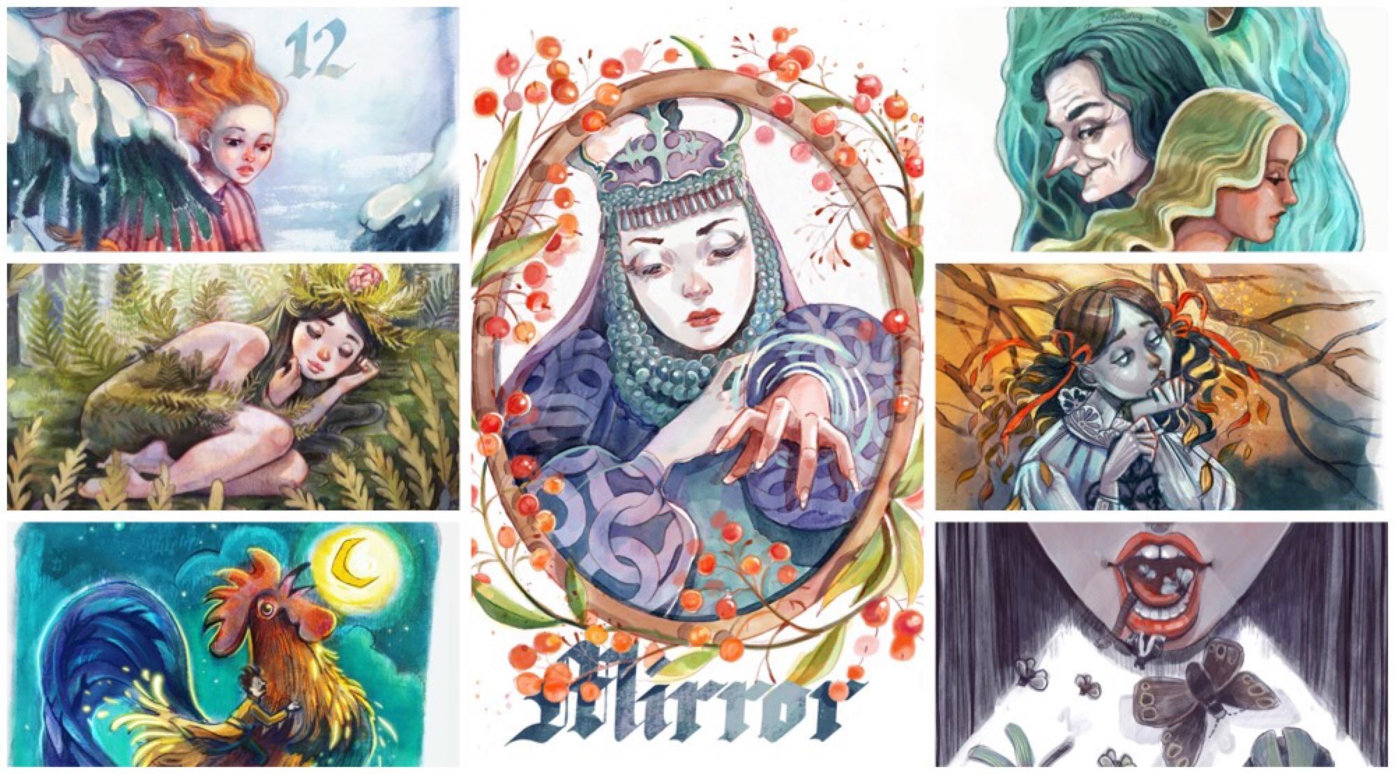 all folktale week illustrations by Kamila Stankiewicz
