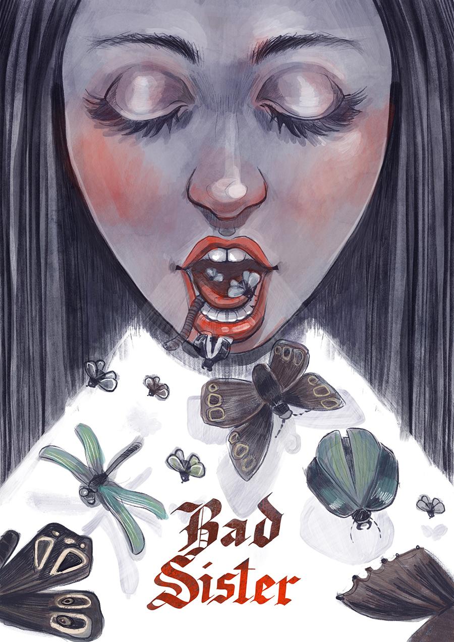 Bad sister illustration by Kamila Stankiewicz
