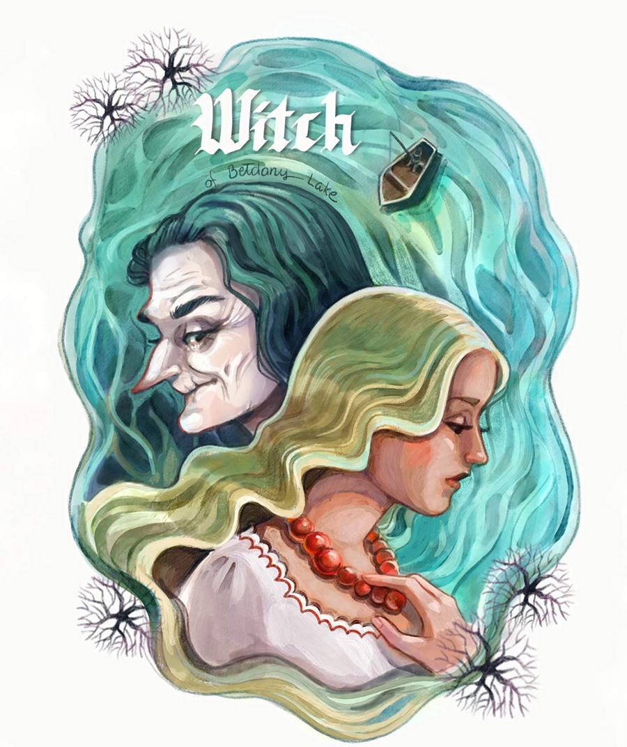 Witch of Beldany Lake illustration by Kamila Stankiewicz