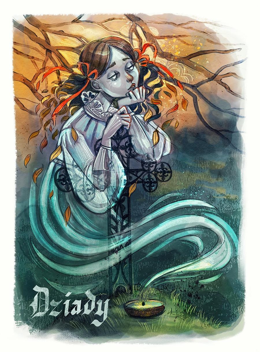 Dziady illustration by Kamila Stankiewicz