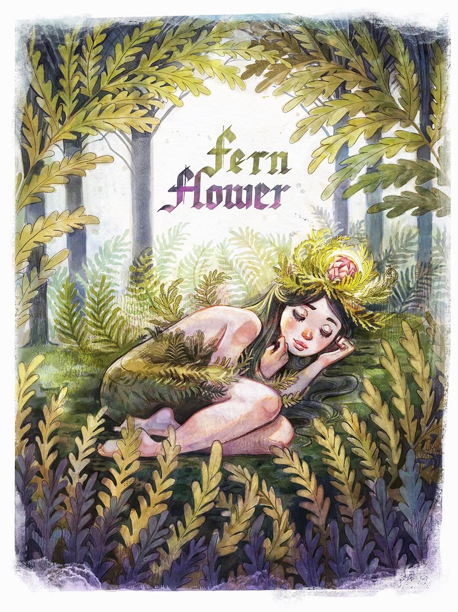 Fern Flower illustration by Kamila Stankiewicz