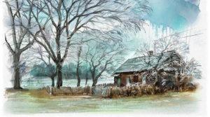 Zimowy krajobraz – cyfrowa akwarela w Rebelle 3
