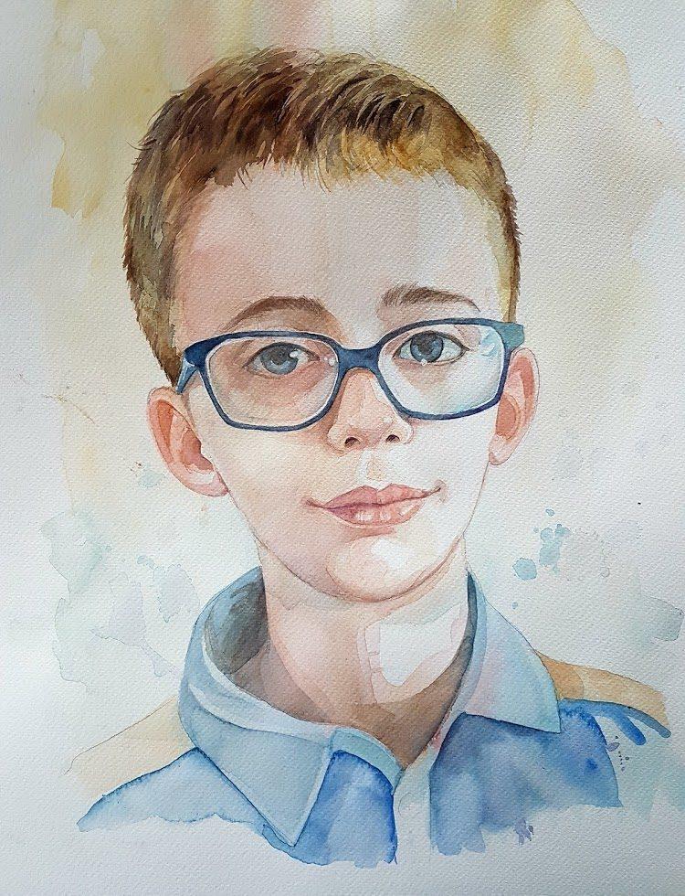 Portret akwarelowy