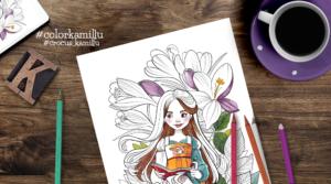 Strange spring 2020 – printable spring coloring page
